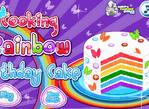 Cookie Rainbow Birthday Cake