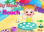 寶貝游沙灘