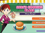Sara Cooking Class Pizza Burger